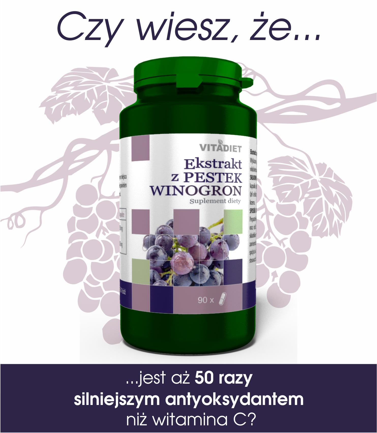 Czy wiesz, że ekstrakt z pestek winogron...?