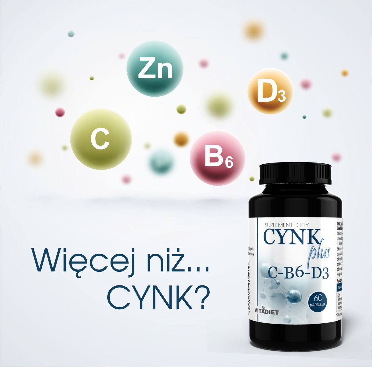 Cynk plus C-B6_D3 60 kapsułek - nowość dla wsparcia odporności